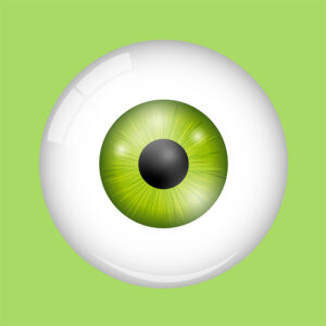 green eye green background illustration