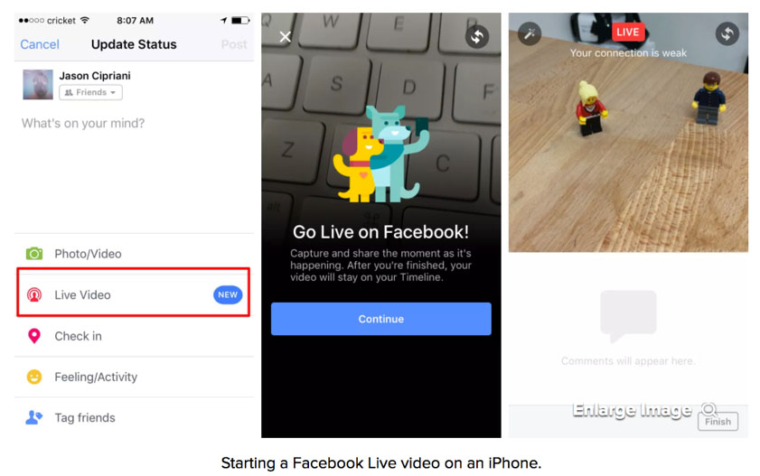 How to start Facebook Live