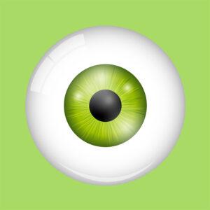green eye green background illustration