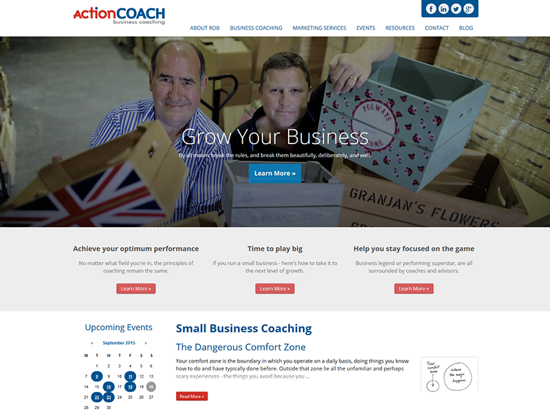 Action Coach Elm Grove – Corporate Web Design