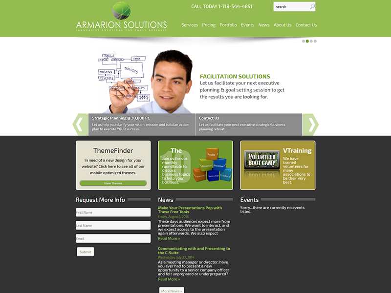 Armarion Solutions – Corporate Web Design