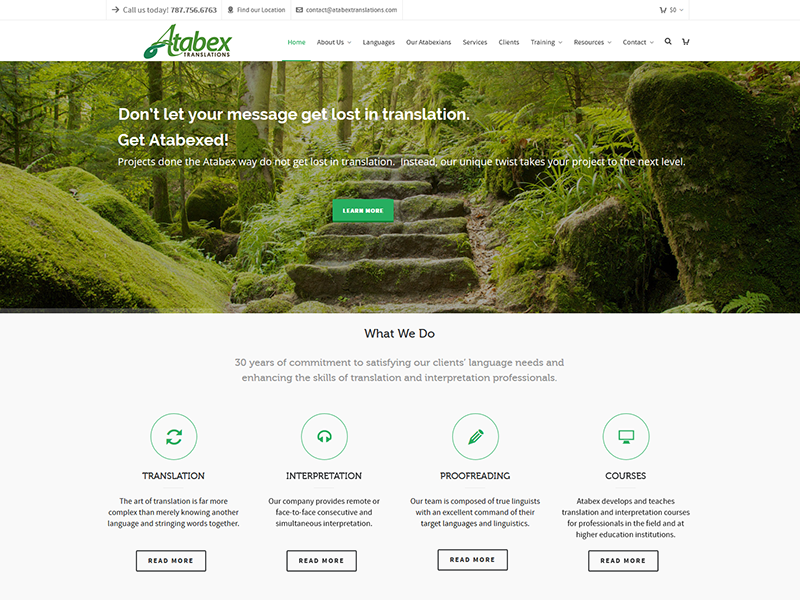 Atabex Translations – Corporate Web Design