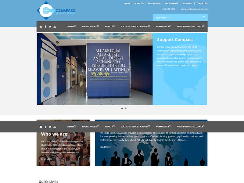 Compass LGBT Community Center – Non-profit Web Design