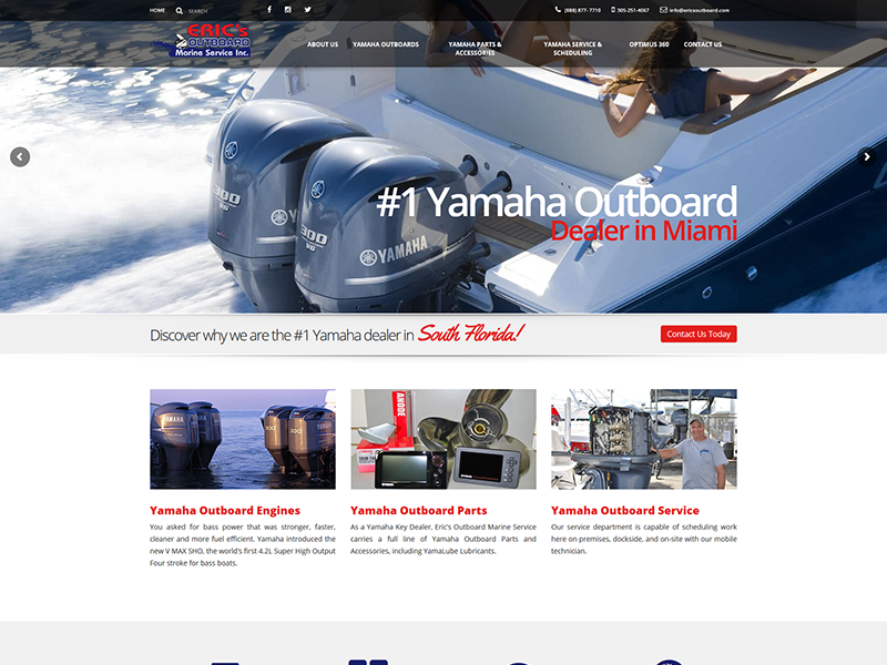 Eric's Outboard – Business Website