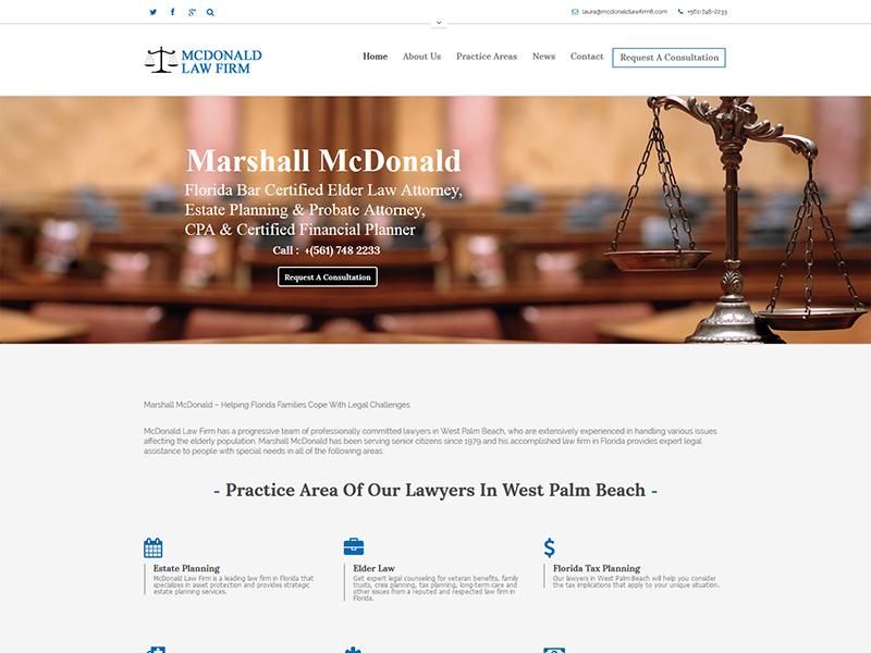 McDonald Law Firm – Law Firm Design