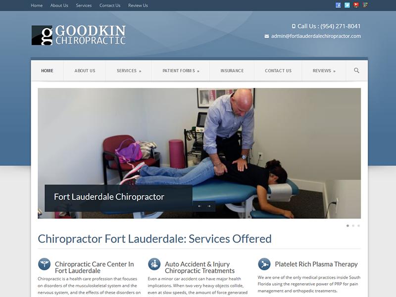 Goodkin Chiropratic – Healthcare Web Design
