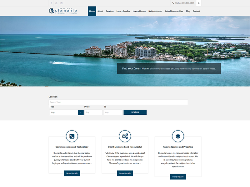 Realty By Clemente – Corporate Web Design