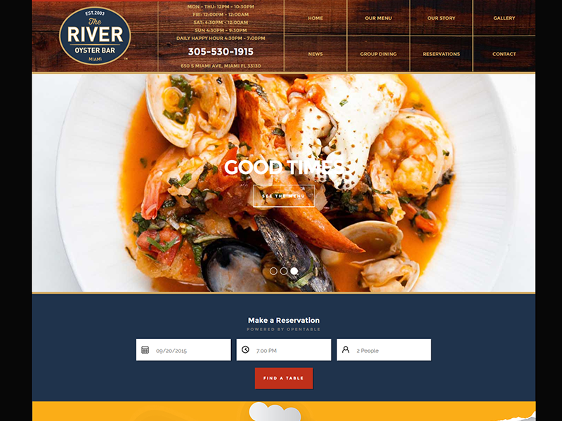 The River Oyster Bar – Restaurant Design