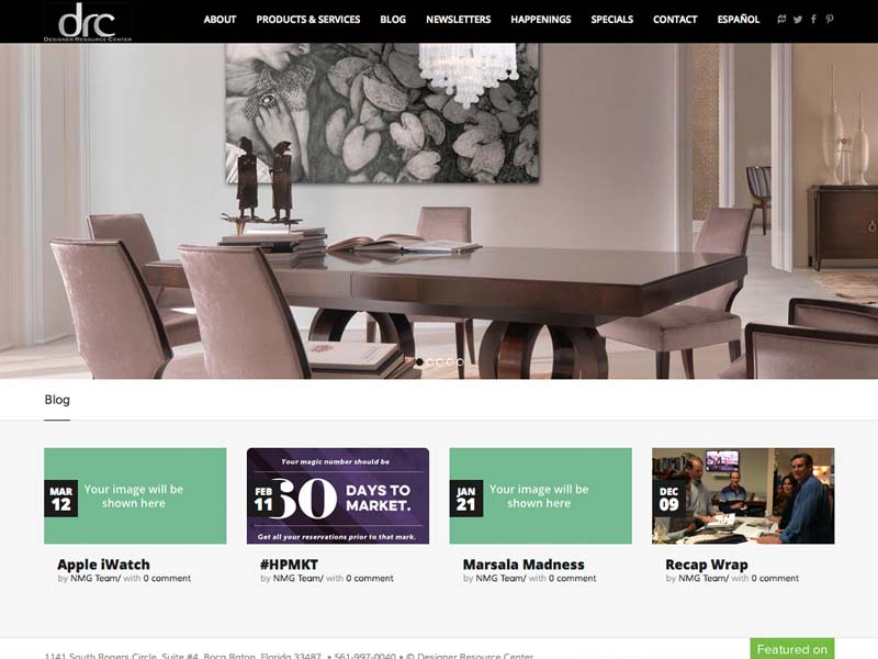 Design Resource Center – Corporate Website