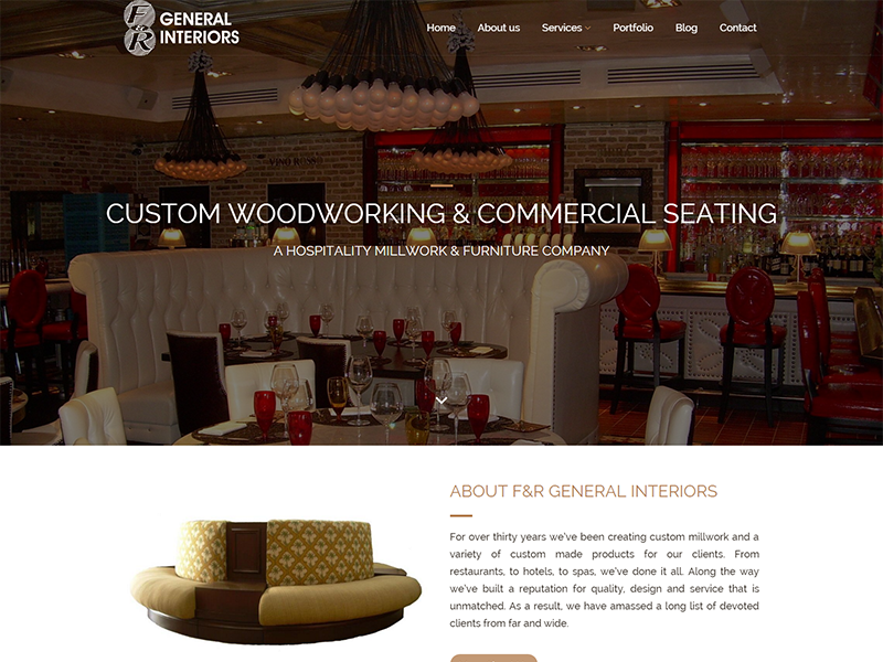 F&R General Interiors – Corporate Website Design