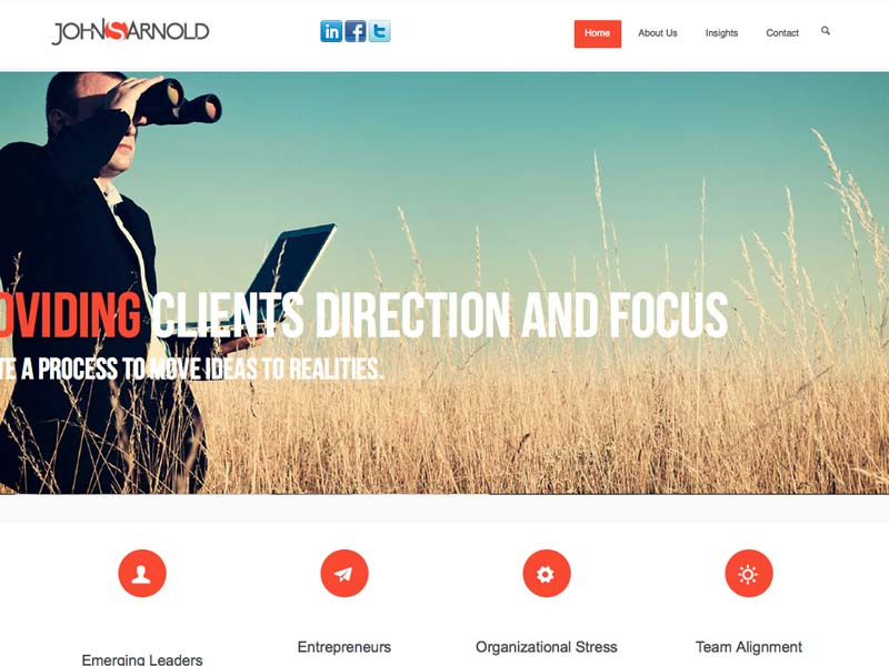 John Arnold – Corporate Web Design