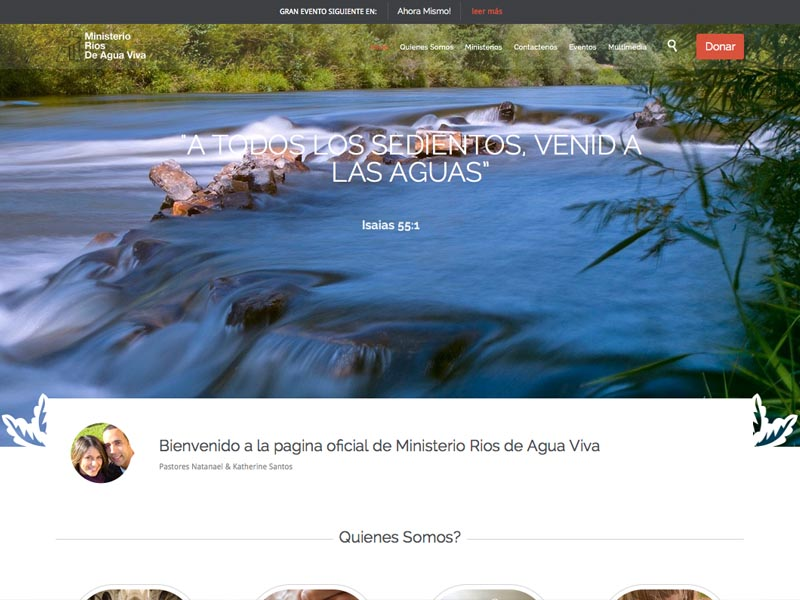 Ministry of Living Water – Non Profit Website