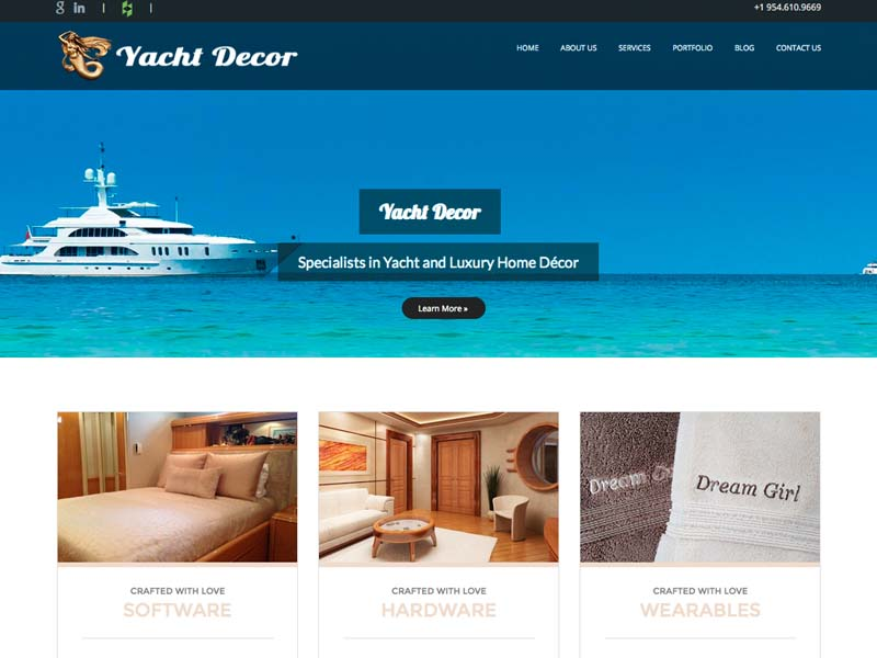 Yacht Decor – Business Web Design