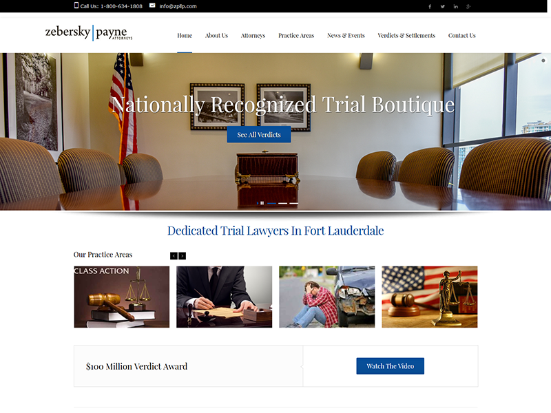 Zebersky Payne, LLP  – Law Firm Web Design