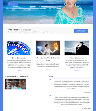 Kathleen Carr Website Developement Portfolio by Katapult Marketing
