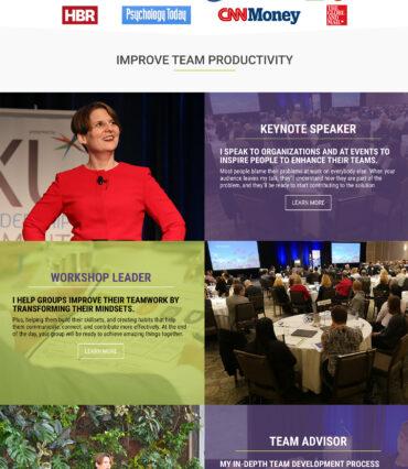 Liane Davey Website Developement Portfolio by Katapult Marketing