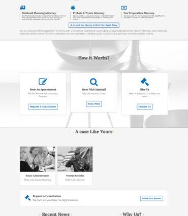 McDonald Law Firm Website Developement Portfolio by Katapult Marketing